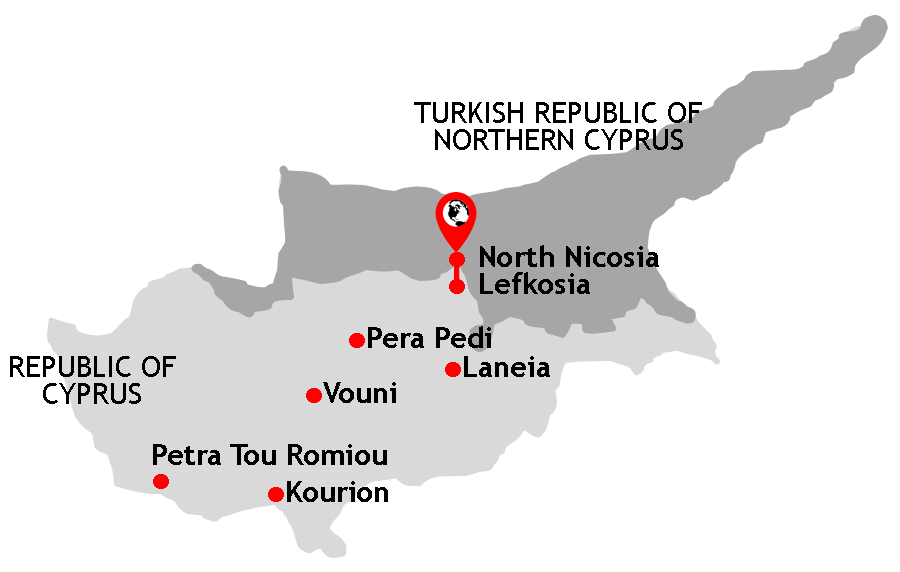 Cyprus Northern Cyprus Destination Chronicle - Northern cyprus map